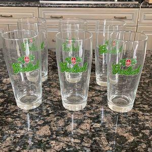 VINTAGE GROLSCH TALL BEER GLASSES SET OF 6 NEW